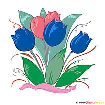 Blaue Tulpen Bild, Clip Art, Grafik, Illustration kostenlos