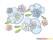 花のクリップアート
