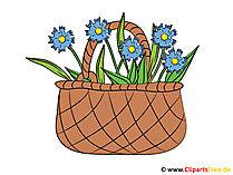 Çiçek Sepeti Clipart - resim