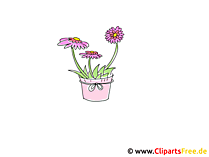 Blomsterpotte Clipart