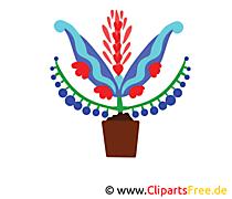 Bukiet kwiatów clipart, ilustracja, grafika, obraz