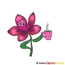 Cartoon bloem clipart gratis