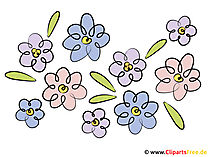 Bahar çiçekleri clipart