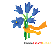 Glockenblumen Bild, Clipart, Illustration, Grafik