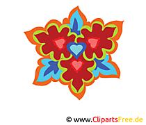 Kaleidoscope desen çiçek resmi clipart bedava