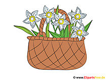 Çiçek resimli sepet