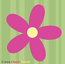 無料クリップアートレトロな花