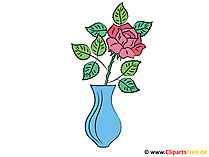Rose in Vase Bild - Clipart