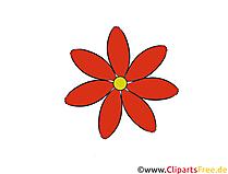 Kırmızı çiçek clipart, illüstrasyon, resim ücretsiz