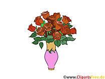 Rose rosse in vaso clipart, immagini, grafica gratis