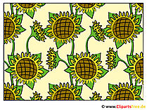 Sonnenblumen Hintergrundbild - Clipart