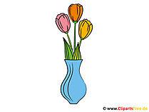 Tulpen in der Vase Bild-Clipart