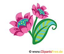 Veilchen Blume Clipart, Bild, Grafik, Zeichnung
