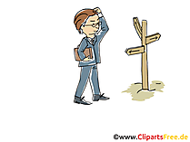 An der Kreuzung Clipart, Grafik, Bild, Cartoon