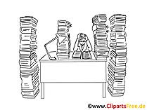 Arbeit Clipart schwarz-weiss