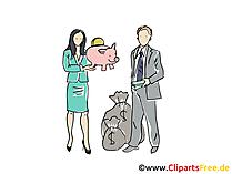 Bankangestellte Clipart, Grafik, Bild