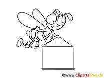 バナークリップアートと漫画の蜂