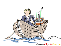 Boot im Meer Clipart, Grafik, Bild, Cartoon