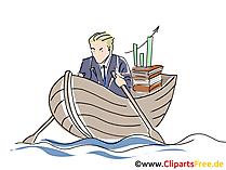 海でボートします。クリップアート、グラフィック、画像、漫画