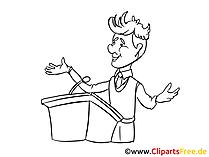 ビジネス会議のクリップアート、漫画、画像