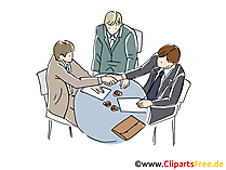 Business Meeting Clipart, Grafik, Bild