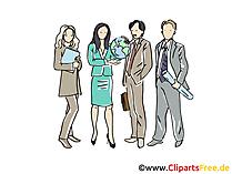 ビジネスマン、集団、チームクリップアート、映像