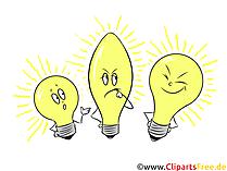 黄色い電球のイラスト、提示するためのクリップアート