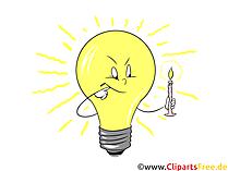 電球のクリップアート、グラフィック、プレゼンテーション用のイラスト