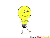 無料の電球コミッククリップアート