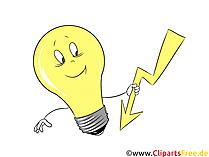 面白い電球の写真、印刷用のクリップアート