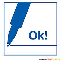 Ok Clipart-Bilder