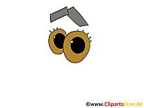 目の漫画のスタイル