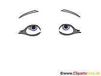 Augen malen Bild, Zeichnung, Grafik