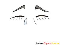 Augen weinen Clipart, Bild, Zeichnung, Grafik