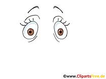 Augen zeichnen Bild, Zeichnung, Grafik, Clipart