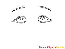 Augen Zeichnung schwarz-weiss