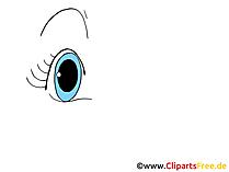 Blaue Auge Bild, Zeichnung, Grafik, Clipart