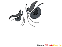 Boeser Blick Clipart, Bild, Zeichnung, Grafik