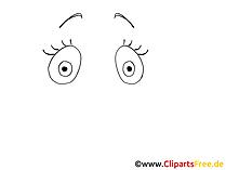 漫画の目の写真