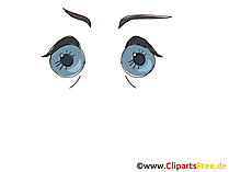 Cartoon Element Augen