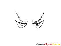 自分を描く漫画の目