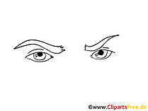 Comic Augen Cliparts, Bilder, Grafiken, Illustrationen