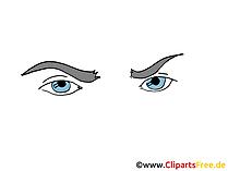 Comic Augen Clipart, Bild, Zeichnung, Grafik