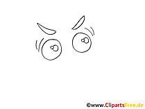 漫画の目を描く