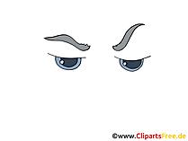 Comic Augen Zeichnung