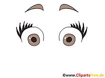 Erschrokene Augen Bild, Clipart, Cartoon