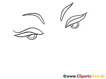 女性の目のクリップアート、画像、デッサン、グラフィック
