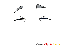 Geschlossene Augen Clipart, Bild, Zeichnung, Grafik