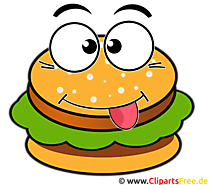 Hamburger Cartoon Clip Art