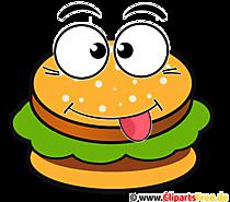 ハンバーガー漫画クリップアート